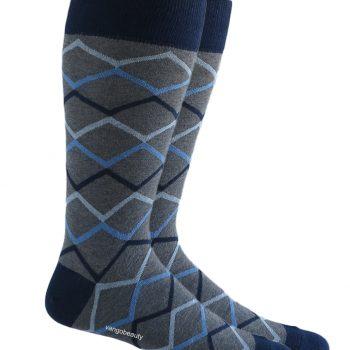 men_dress-Over-the_calf_grey_waves_socks-4