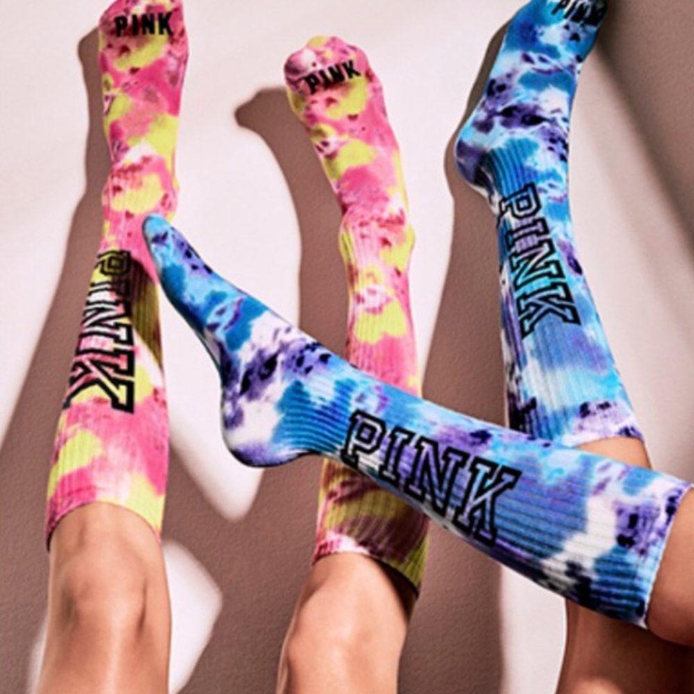87c842c7245832 Victoria Secret Pink Tie Dye Socks Set Of Two – vangobeauty