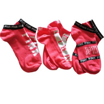 VICTORIA-SECRET-PINK-ULTIMATE-ORANGE-NEON-PINK–SOCKS–NO-SHOW-SOCKS-2