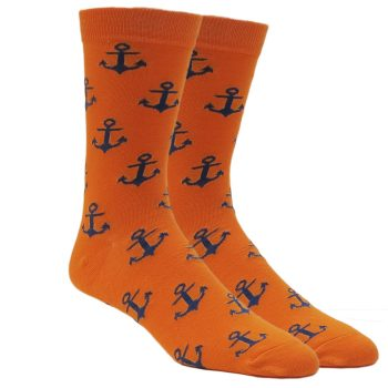 men-dress-orange-anchor-socks-crew-socks-1