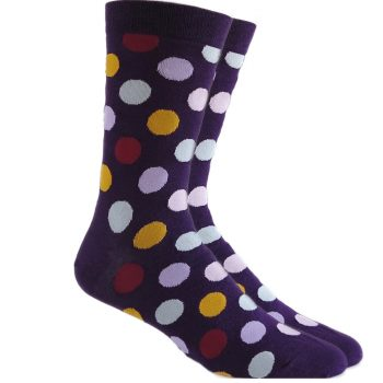 men_dress_socks_eggplant_dark_purple_polka_dot_socks_3