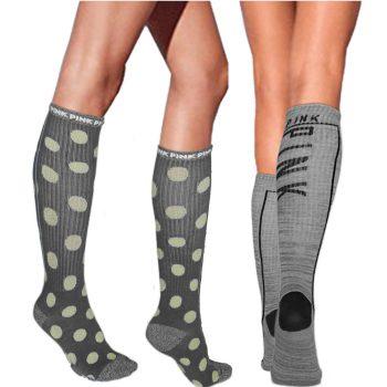 victoria_secret_pink_knee_high_socks_polka_dot_1