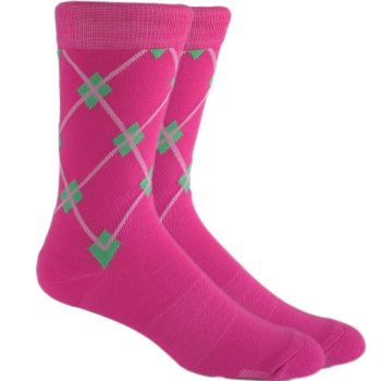 men_dress_socks_argyle_pink_socks_hot_pink_socks-2