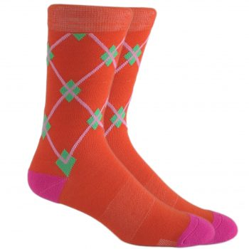 men_dress_socks_orange_pink_Argyle_socks_1
