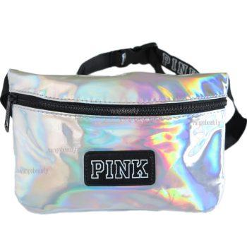 victoria_secret_pink_fanny_pack_silver_metalic_1