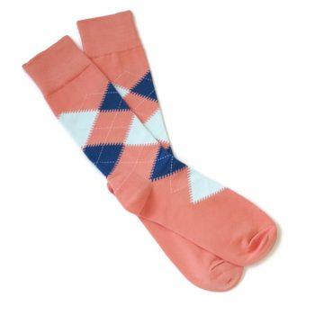 MEN-ARGYLE-Coral-Mint-Blue-Wedding-Socks-_3